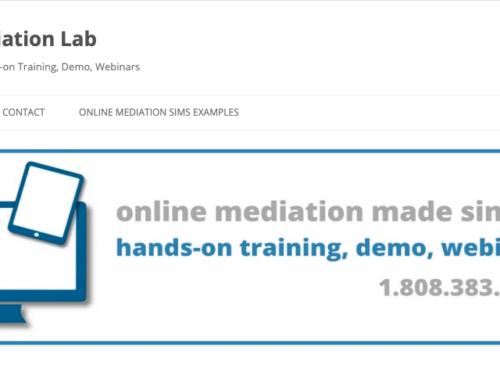 Beispiel für eine Onlinemediation