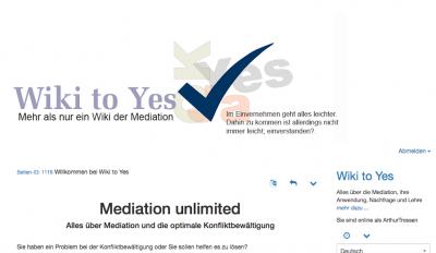 Webseite von Wiki to Yes